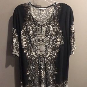 Dress Barn black & brown dress size XL